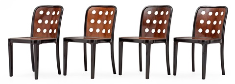 stolar (modell 8111) (set of 2) by josef hoffmann