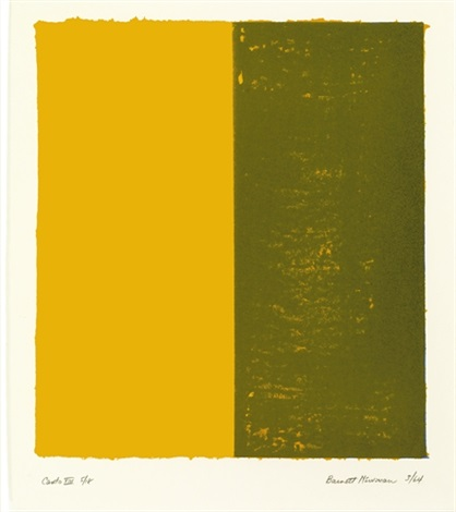 canto xiii from 18 cantos by barnett newman