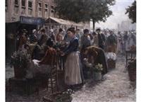holländischer blumenmarkt by henricus gerardus de korte