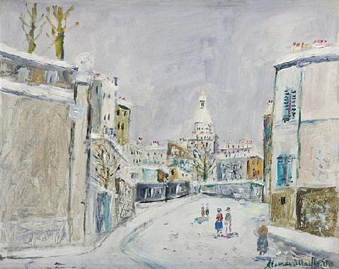 la neige à montmartre by maurice utrillo
