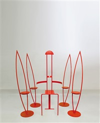 sedie (set of 5) by janos fischer