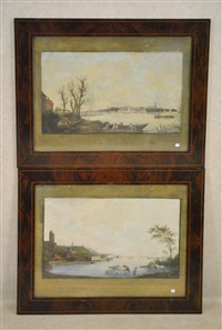 vue de nimègue (+ another; 2 works) by hendrik hoogers