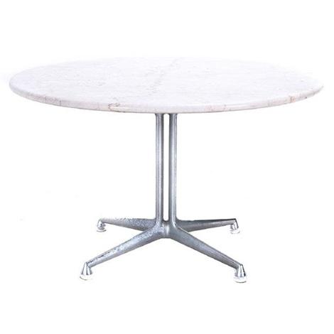 Herman Miller For Eames Botticcino Marble Top Table By Herman Miller - Eames marble table