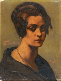 portrait de jeune italienne by émile bernard