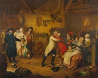 the conscript and the return (pair) by johann theodor eusebius faber