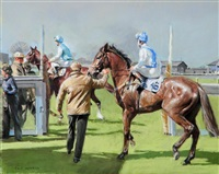 entering the paddock, ripon races by p. kenneth (ken) jackson