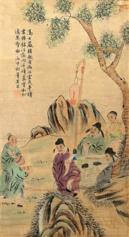 a fine chinese painting attributed to dong qichang by dong qichang