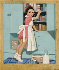 baking time/an illustration for health club baking powder by knute o. munson