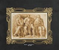 tre figure virili sedute e panneggiate by baccio bandinelli