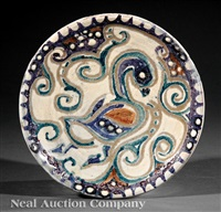 plate by shearwater pottery