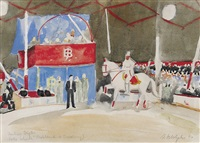 pferdedressur in der manege by fritz adolphy