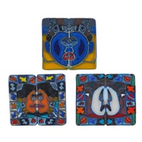 framed murrine book-matched plaques (3 works) by richard ritter