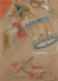 études pour un tambour by lucien lévy-dhurmer