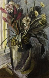 still life on a window sill by may (mary ellen) hillhouse