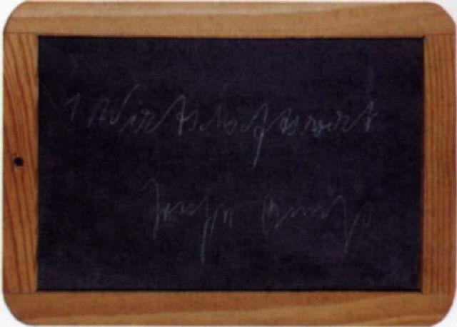 Schultafel  Wirtschaftswert Schultafel by Joseph Beuys on artnet