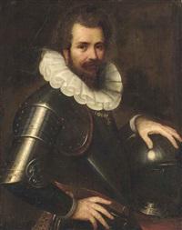 portrait of ranuccio farnese, half-length, in armour by cesare aretusi