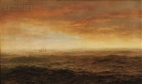 the sea at dusk by henry pember smith