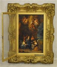 scène religieuse avec angelots by peeter van avont