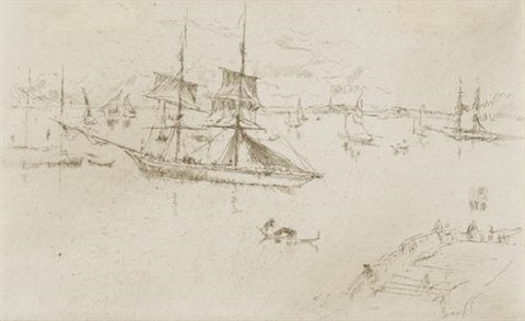 lagoon: noon (from twenty-six etchings) by james abbott mcneill whistler