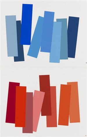interaction of color (die wechselbeziehung der farbe) (portfolio of 81 w/text, justif.) by josef albers