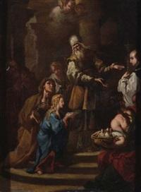 presentazione della vergine al tempio by sebastiano conca