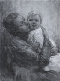 mother and child by hendrik johannes haverman