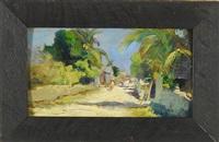 island street scene by douglas volk