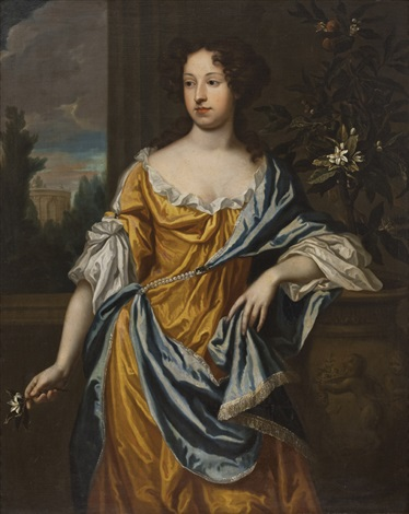 dama con fiori by sir peter lely