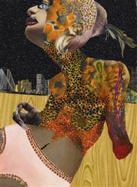 untitled (leopard woman reclining) by wangechi mutu