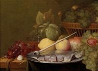 stillleben mit zitronen, trauben, einer pfeife und filetiertem fisch by jan pauwel gillemans the elder