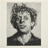 phil (from rubber stamp portfolio) by chuck close