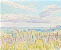 landscape with reeds by viggo rorup