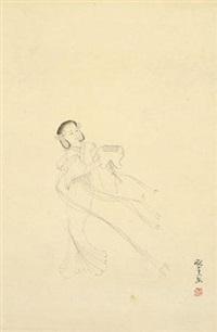 白描仕女 by pang xunqin