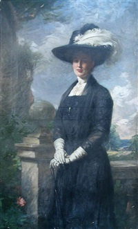 portrait of a lady by william samuel henry (sir) llewellyn