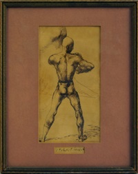 study of a male nude by pavel tchelitchew