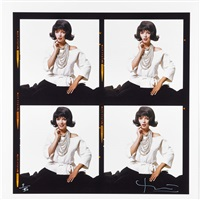 monroe with jackie o wig, the lost sitting by bert stern