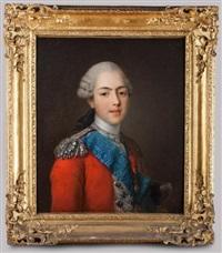 portrait du comte d'artois en colonel général des suisses by jean-martial fredou