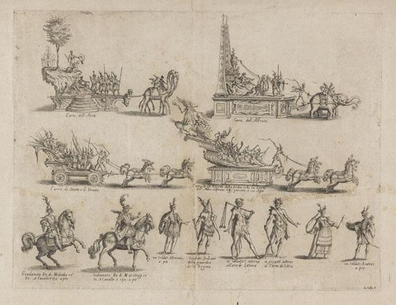 les chars et les personnages pl1 from la guerre darmour guerra damore by jacques callot