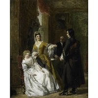the love token (from sir walter scotts the bridge of lammermoor) by william powell frith