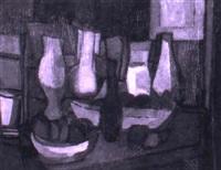 stilleben mit vasen, flaschen und fr_chteschalen by margarete ebeling