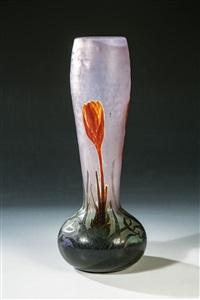 bedeutende vase crocus by henri bergé