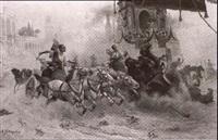 antikes wagenrennen in einer r
