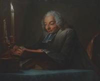 portrait des lesenden abbé huber (after maurice quentin de la tour) by édouard joseph dantan