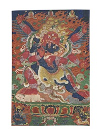 hayagriva heruka and vajravarahi by anonymous-tibetan (19)