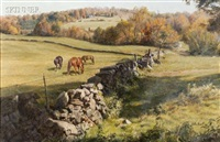 north salem horse pasture by john walter scott