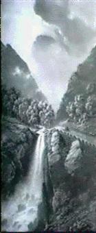 wasserfall bei klekkefjord an der strasse nach jedde by gustave adolph amberger