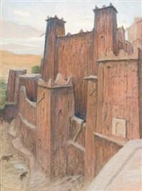casbah de aït benadou, anti-atla by maurice rodieux