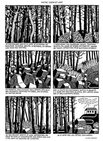 entre chien et loup (from magazine polystyrène) by jochen gerner