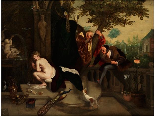 susanna und die beiden alten by jan brueghel the younger