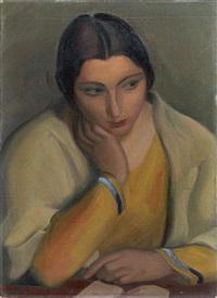 malinconia (studio - mezza figura) by mario tozzi